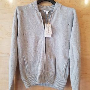 Minnie Rose zipup sweatshirt (grey)
